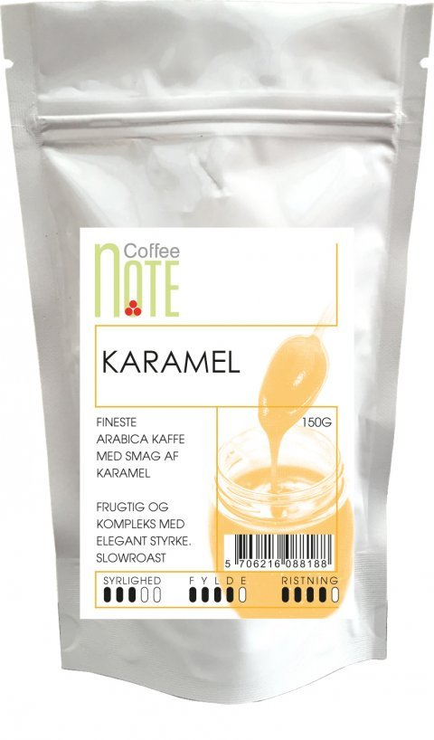 Coffee notes parfumerede kaffe med karamel