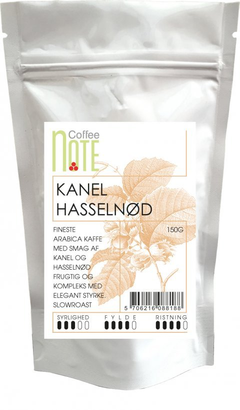 Coffee notes parfumerede kaffe med kanel og hassel